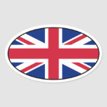 UK Flag Oval Sticker