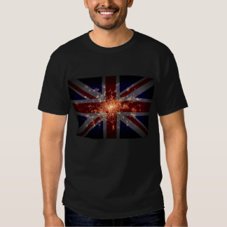 UK Flag over London at Night from Space Shirt