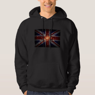 UK Flag over London at Night from Space Sweatshirt