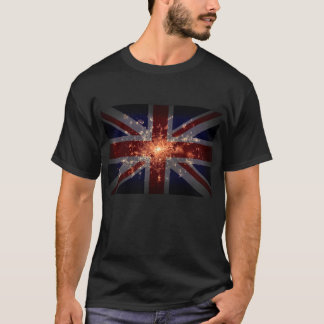 UK Flag over London at Night from Space T-Shirt
