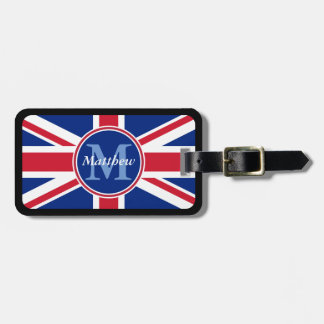 UK Flag Personalized Name and Monogram Tags For Luggage