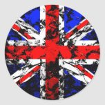 UK Flag Round Stickers