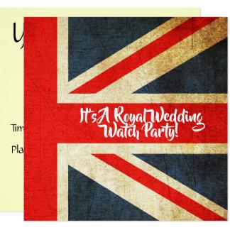 UK Flag Royal Wedding Watch Party Invitation
