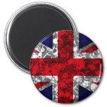 UK Flag silver London magnet