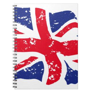 UK Flag Spiral Notebook
