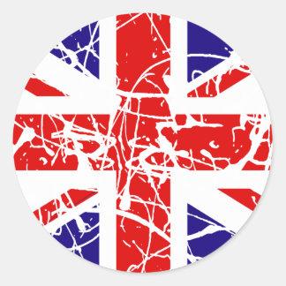 UK Flag Classic Round Sticker