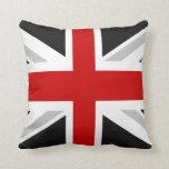 uk flag throw pillow black red