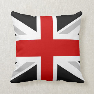 uk flag throw pillow black red