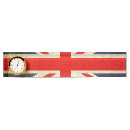 UK Flag Union Jack Desk Nameplate Clock