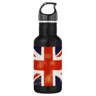 UK Flag Vintage Union Jack Custom 18oz Water Bottle