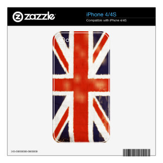 UK Flag Vintage Union Jack iPhone 4 / 4S Skin Skins For The iPhone 4