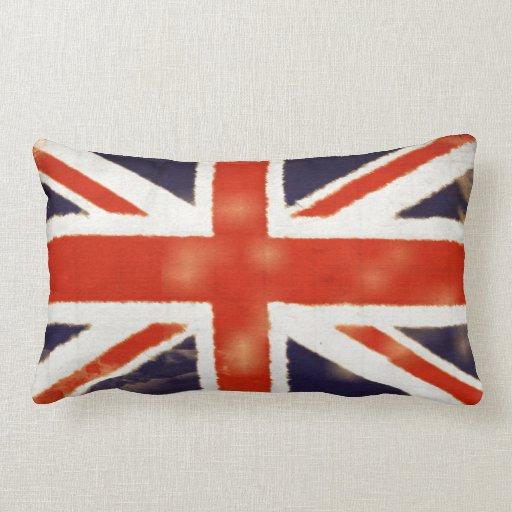 UK Flag Vintage Union Jack Lumbar Throw Pillow