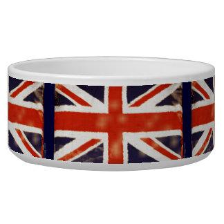 UK Flag Vintage Union Jack Pet Bowl (Large) Dog Bowl