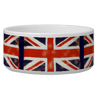 UK Flag Vintage Union Jack Pet Bowl (Large)