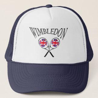 UK flag Wimbledon tennis rackets hat