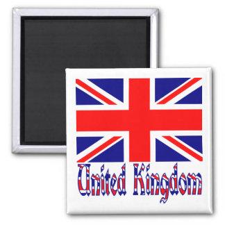 UK Flag & Word Vinque Magnet