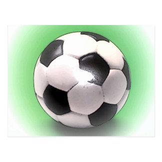UK Football Ball Postcard