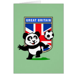 Greeting Card with Great Britain Football Panda design