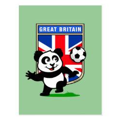 Postcard with Great Britain Football Panda design