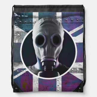 UK Gas Mask Drawstring Backpack
