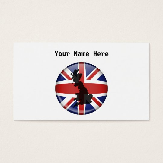 UK Globe, Your Name Here Business Card