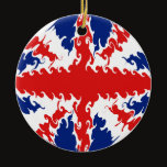 UK Gnarly Flag Ceramic Ornament