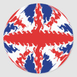 UK Gnarly Flag Classic Round Sticker