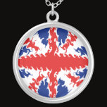UK Gnarly Flag Silver Plated Necklace