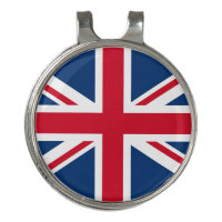 UK Great Britain Union Jack Flag Golf Hat Clip
