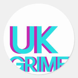 uk grime music classic round sticker