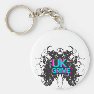 uk grime music basic round button keychain
