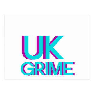 uk grime music postcard