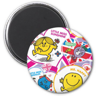 UK Hearts 2 Inch Round Magnet