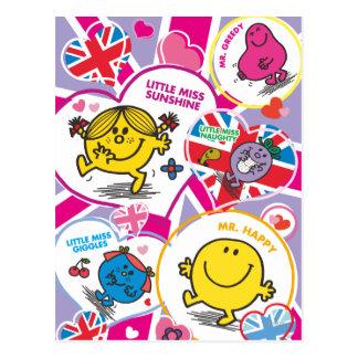 UK Hearts Postcard