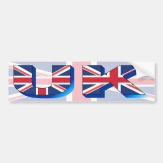 UK is made from the Union Jack Bumper Sticker