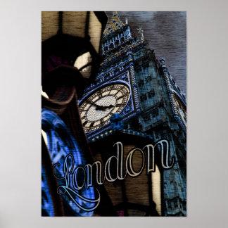 UK London Big Ben Tower Clock Poster