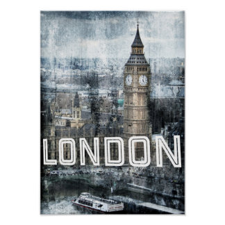 UK London City Big Ben Landmark Poster