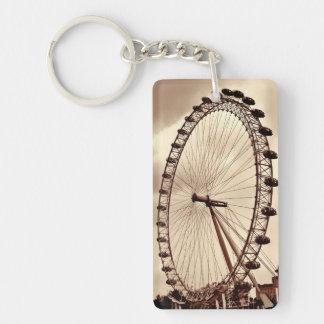 UK London Eye Vintage Photo Key Chain