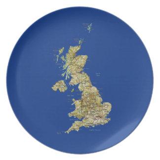 UK Map Plate