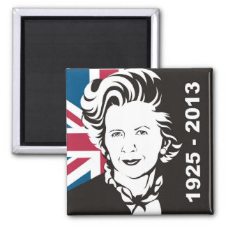 UK mourns Margaret Thatcher, England's Iron Lady 2 Inch Square Magnet