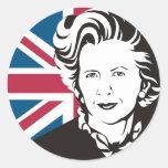 UK mourns Margaret Thatcher, England's Iron Lady Classic Round Sticker
