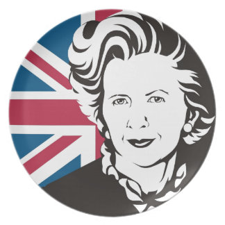 UK mourns Margaret Thatcher, England's Iron Lady Dinner Plate