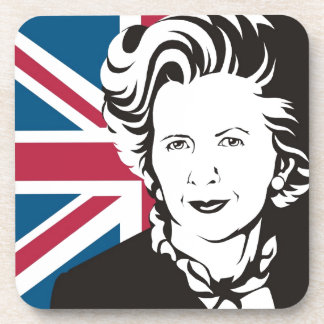 UK mourns Margaret Thatcher, England's Iron Lady Drink Coaster