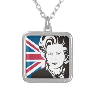 UK mourns Margaret Thatcher, England's Iron Lady Silver Plated Necklace