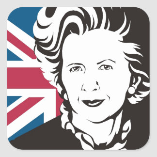 UK mourns Margaret Thatcher, England's Iron Lady Square Sticker