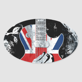 UK Music Guitar Life Oval Sticker