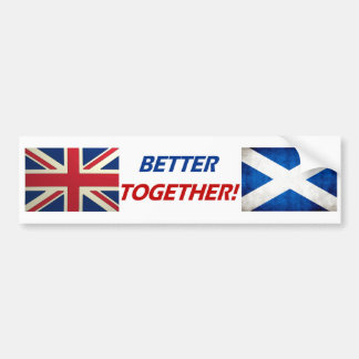 UK OK! Better Together Bumper Sticker