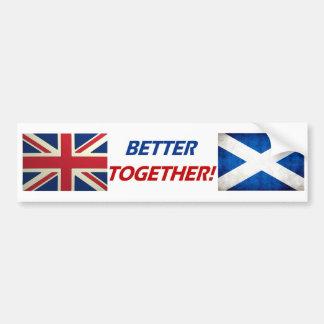 UK OK! Better Together Car Bumper Sticker