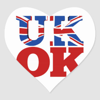 UK OK! Better Together Heart Sticker