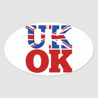 UK OK! Better Together Oval Sticker